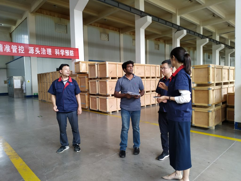 Electrical Power Construction Co came to inspect ChinSun Bushing Company